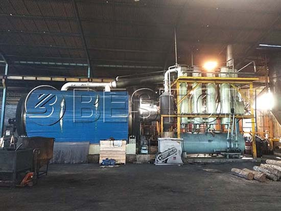 Tire Pyrolysis Plant In Indonesia